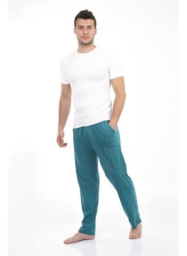 Akbeniz Erkek Pamuk Tek Alt Pijama 27199 Turkuaz